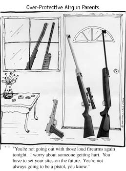 Over Protective Airgun Parents Cartoon